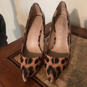 Leopard Heels Patent Leather